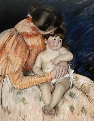 Mother And Child Print by Mary Stevenson Cassatt