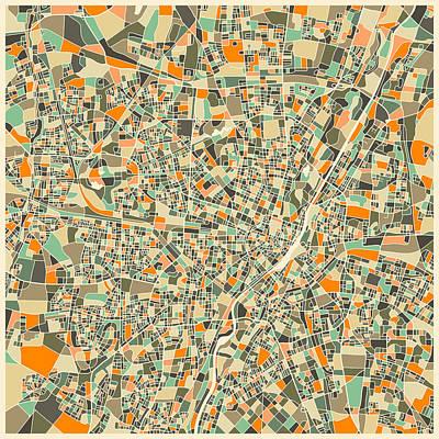 Munich Map Print by Jazzberry Blue