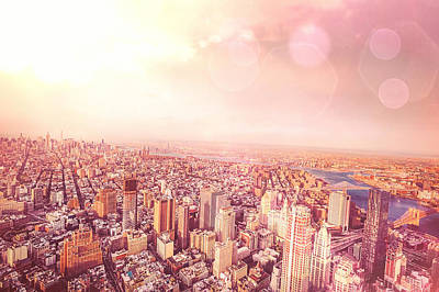 New York City Rooftop Photograph - New York City Skyline by Vivienne Gucwa