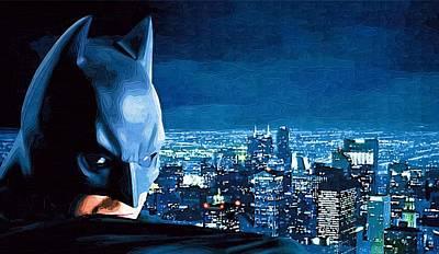 Batman Digital Art - Night Batman by Egor Vysockiy