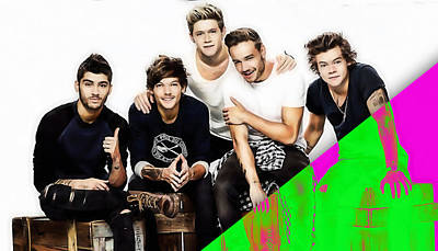 One Direction Collection Print by Marvin Blaine