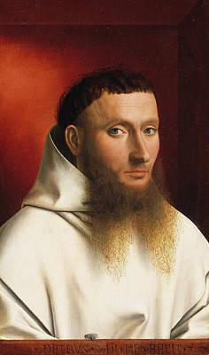 Man Painting - Portrait Of A Carthusian by Petrus Christus
