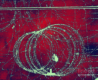 Atom Photograph - Positron Tracks by Omikron