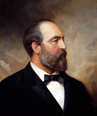 James Garfield Painting - President James Garfield by War Is Hell Store