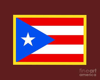 Puerto Rico Flag Original by Frederick Holiday