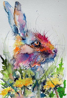 Rabbit Print by Kovacs Anna Brigitta