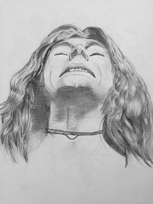Robert Plant Drawing - Robert Plant by Manon Zemanek