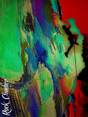 Rock Climber Collection Print by Marvin Blaine