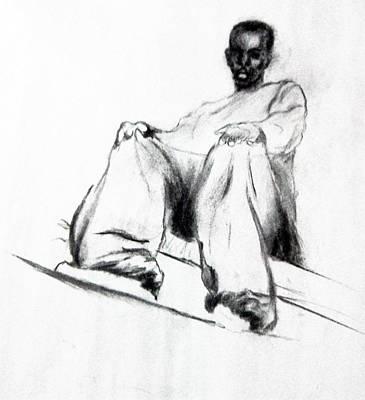 Pyjama Drawing - Romy by John Edwe