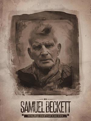 Portrait Digital Art - Samuel Beckett 02 by Afterdarkness