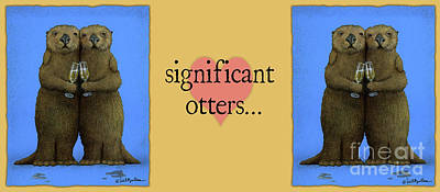 Significant Otters... Original by Will Bullas