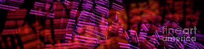 Colourfull Photograph - Singapore Night Urban City Light - Series - Your Singapore by Urft Valley Art