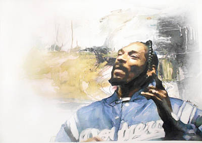 Beverly Hills Drawing - Snoop by Jani Heinonen