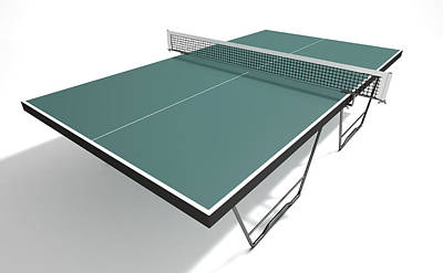 Ping Pong Digital Art - Table Tennis Table by Allan Swart