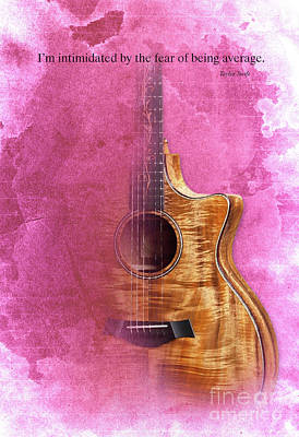 Taylor Swift Painting - Taylor Inspirational Quote, Acoustic Guitar Original Abstract Art by Pablo Franchi