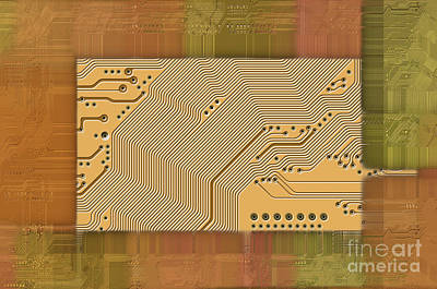 Technology Abstract Background Print by Michal Boubin