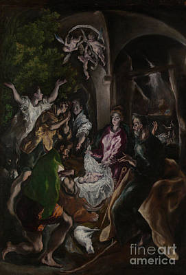 The Adoration Of The Shepherds Print by El Greco