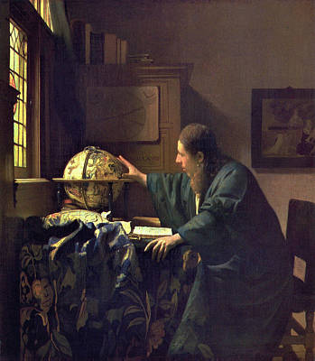 Man Painting - The Astronomer by Johannes Vermeer