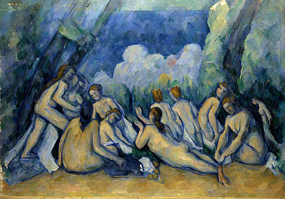 Bath Painting - The Bathers by Paul Cezanne