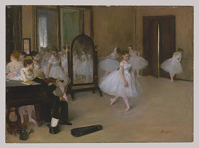 Girl Painting - The Dancing Class by Edgar Degas
