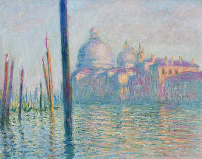 Italian Landscapes Painting - The Grand Canal  by Claude Monet