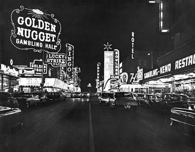 1960s Photograph - The Las Vegas Strip by Underwood Archives