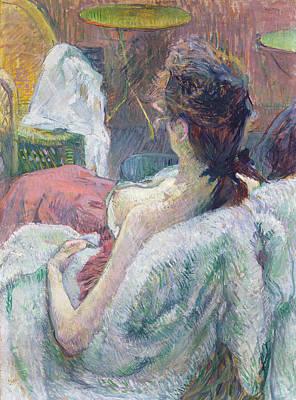 Reclining Painting - The Model Resting by Henri de Toulouse-Lautrec