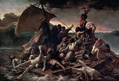 Nude Painting - The Raft Of The Medusa by Theodore Gericault