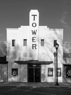 The Tower Theatre Of Lamesa Texas Print by Mountain Dreams