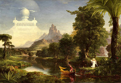 Youth Painting - The Voyage Of Life, Youth by Thomas Cole