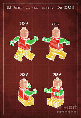 Toy Figure Patent Year 1979 Print by Pablo Franchi