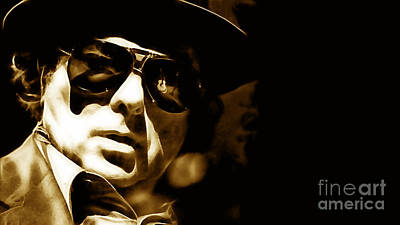 Poster Mixed Media - Van Morrison Collection by Marvin Blaine
