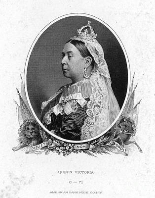 Earrings Photograph - Victoria Of England by Granger