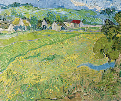 Gogh Painting - View Of Vessenots Near Auvers by Vincent van Gogh