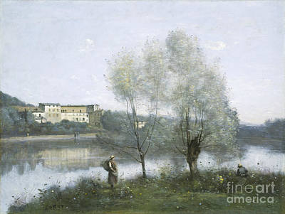 Pathway Painting - Ville D'avray by Jean Baptiste Camille Corot