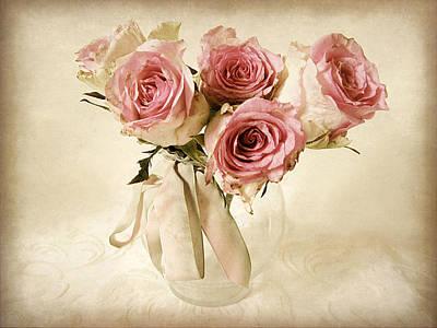 Summer Digital Art - Vintage Bouquet by Jessica Jenney