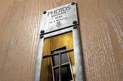 Vintage Photo Booth Pickup Slot Print by Allan Swart