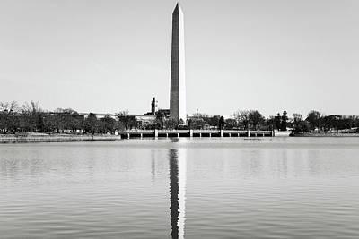 Trees Photograph - Washington Memorial In Washington Dc by Brandon Bourdages