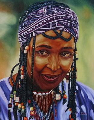Painting - Winnie Mandela by Shahid Muqaddim