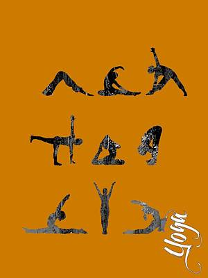 Female Mixed Media - Yoga Collection by Marvin Blaine