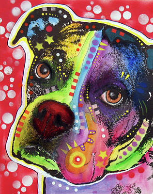 Dog Mixed Media - Young Boxer by Dean Russo