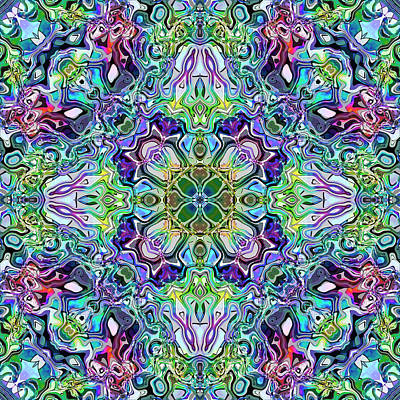 Mirror Imaging Digital Art - Kaleidoscopic Ornaments by Miroslav Nemecek