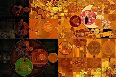 Carrot Digital Art - Abstract Painting - Zinnwaldite Brown by Vitaliy Gladkiy