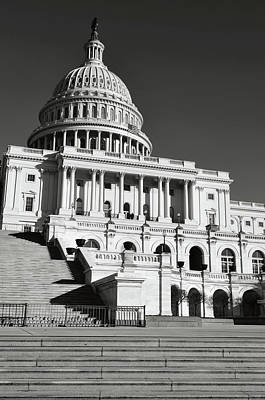 Trees Photograph - Capitol Hill Building In Washington Dc by Brandon Bourdages