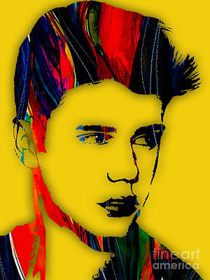 Music Mixed Media - Justin Bieber Collection by Marvin Blaine