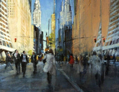 42nd Street Reflections Original by Peter Salwen