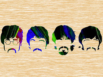 The Beatles Mixed Media - The Beatles Collection by Marvin Blaine
