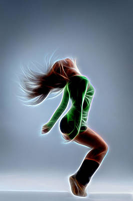 Hop Digital Art - Dance You by Michael Vicin