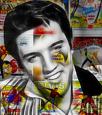 King Mixed Media - Elvis Presley Collection by Marvin Blaine
