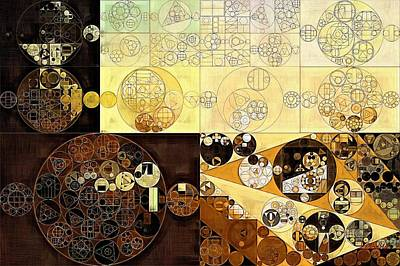 Buttermilk Digital Art - Abstract Painting - Zinnwaldite Brown by Vitaliy Gladkiy